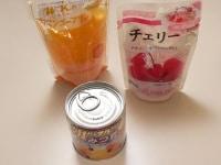 トッピング用のフルーツ、その他を用意する
