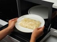 テーブルマーク冷凍『稲庭風細うどん』をレンジ加熱する