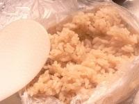 袋を開けて食べる