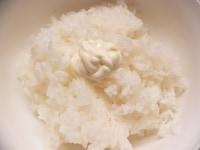 ご飯とマヨネーズを混ぜて