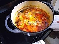 パルメザンチーズをふり、200度のオーブンで10分焼き上げる