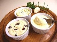 3種類のバターの完成