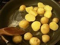 バターで炒める