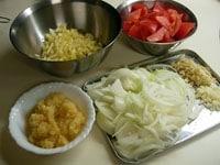 野菜の準備