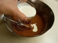 チョコ・バターを加えさらに混ぜる